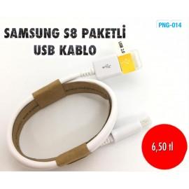 SAMSUNG S8 PAKETLİ USB KABLO